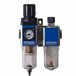 FRL - linha AFC, unidade combinada de filtro,  regulador e lubrificador (Lubrifil), de 1/4 a 1 poleg