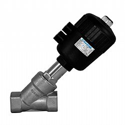 V lvula p fluidos tipo y com atua o por ar comprimido for Accionamiento neumatico